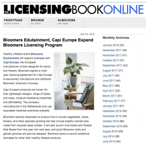 Bloomers and Capi-Europe Press Release