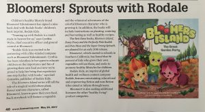 Bloomers Sprouts with Rodale Publishing